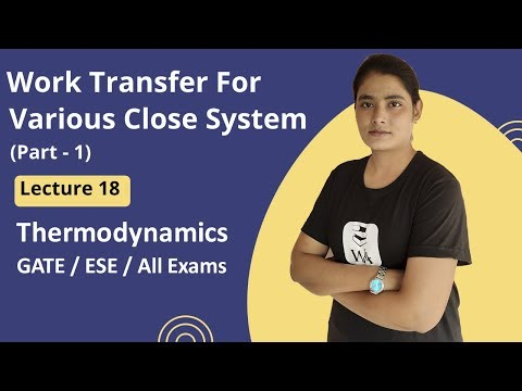 Work Transfer for various Close System | Thermodynamics Gate Lectures in Hindi