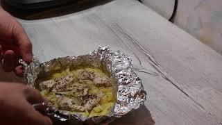 Картофель с курицей в фольге на пару!.