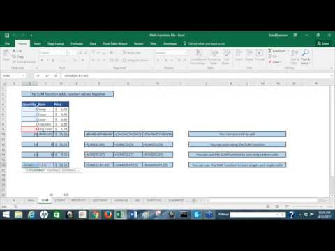 Mathematical Functions in Excel - with Todd Brannon | Skillsology