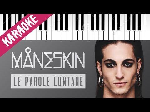 Måneskin   Le Parole Lontane // Piano Karaoke Con Testo