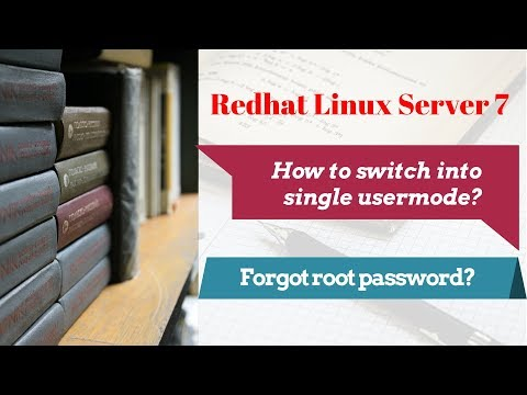 How to go into single user mode in rhel 7