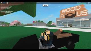 Roblox Lumber Tycoon 2 Friend try to cut trees with a Axe Boxes