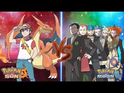 Pokemon Sun and Moon: Trainer Red Vs Team Rainbow Rocket