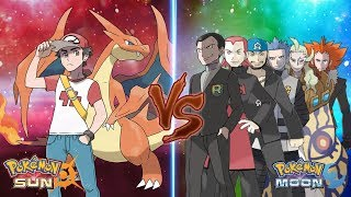 Pokemon Sun and Moon: Trainer Red Vs Team Rainbow Rocket