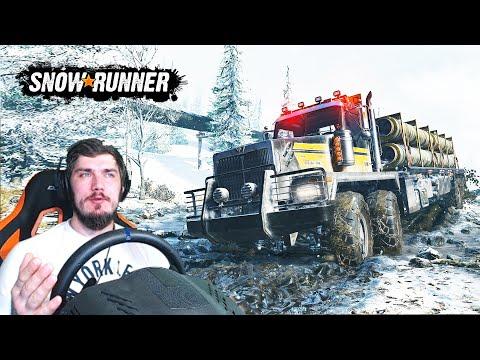 SnowRunner - ПРОХОЖДЕНИЕ  (SpinTires, MudRunner) SnowRunner ОБЗОР + РУЛЬ