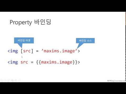 Angular (앵귤러2) 데이터 바인딩 소개 및 데모