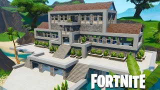 Fortnite Creative - Modern River House (Speed Build)