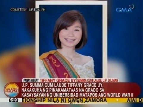 UB: Panayam kay Tiffany Grace Uy, Summa Cum Laude, UP Diliman