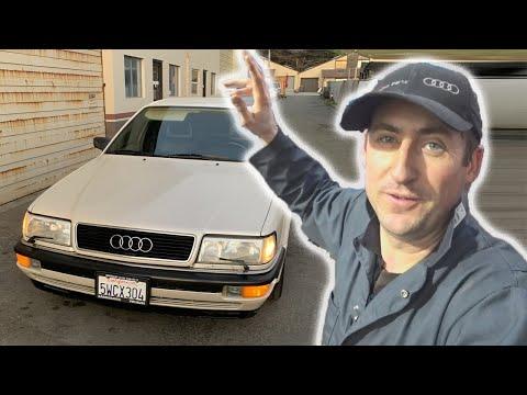 Автосервис в США работаем в карантин : Audi V8 устраняем свист ремня генератора!