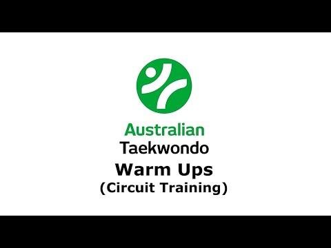 01 - 10 AUSTRALIAN TAEKWONDO WARM UPS CIRCUIT TRAINING