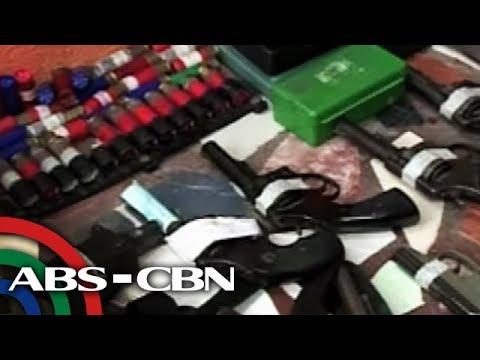 Bandila: Mahigit 30 baril, granada, 'shabu' nakuha sa bahay ng pulis