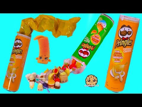 Pringles Surprise Shopkins Real Littles Grocery Blind Bags Video