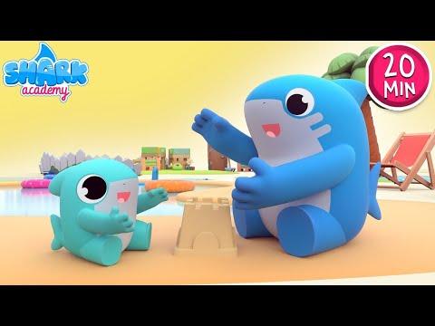 SUMMER Special: Baby Shark Version - Kids learn dancing   Nursery Rhymes   Shark Academy