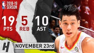 Jeremy Lin Full Highlights Hawks vs Celtics 2018.11.23 - 19 Pts, 10 Ast, 5 Rebounds!
