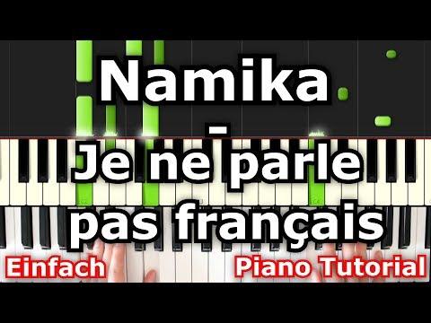 Namika - Je ne parle pas français   Piano Tutorial   German