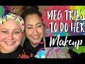 Meg tries Makeup | How to Makeup for Beginners |Teacher Vlog