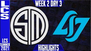 TSM vs CLG Highlights | LCS Summer 2021 W2D3 | Team Solomid vs Counter Logic Gaming