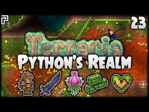 Terraria Let's Play (1.3.5) | And So It Begins... (Plantera!) | Python's Realm [S2 - Episode 23]
