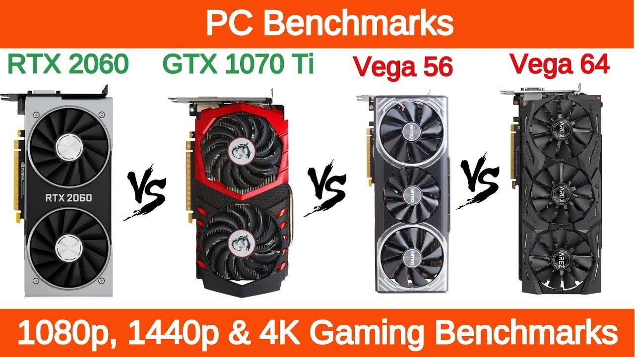 Nvidia RTX 2060 vs GTX 1070 Ti vs AMD RX Vega 64 vs RX Vega 56