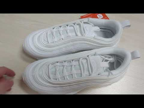 Nike Air Max 97 White Reflective Silver Unboxing Detailed Look