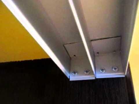 Натяжной потолок переходящий на шкаф