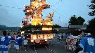 Kitahata Tokusue Gion Matsuri (北波多徳須恵祇園祭): Turning the Float (2013-07-28)