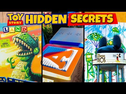 Top 10 Hidden Secrets of Toy Story Land - Pixar Easter Eggs