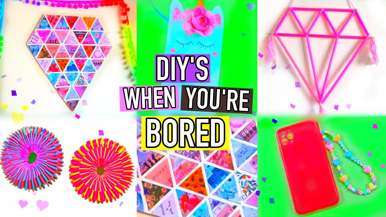5 Minute Crafts To Do When You're Bored - Room Decor.. Paper Fidget Toy and more..