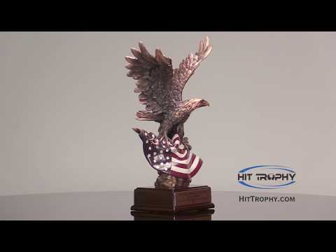 Bald Eagle Statue American Flag With Free Engraving RFB110 RFB111 RFB112