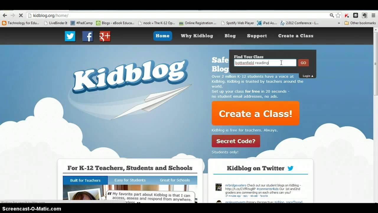 How to login to Kidblog - YouTube