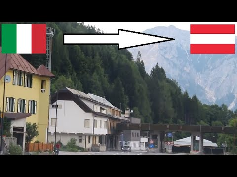 Italy - Austria / Crossing The Border By Car