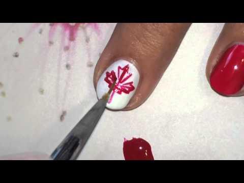 Canada Flag Nail Art Tutorial Youtube