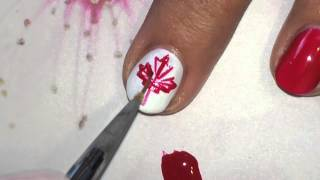 Canada flag nail art tutorial