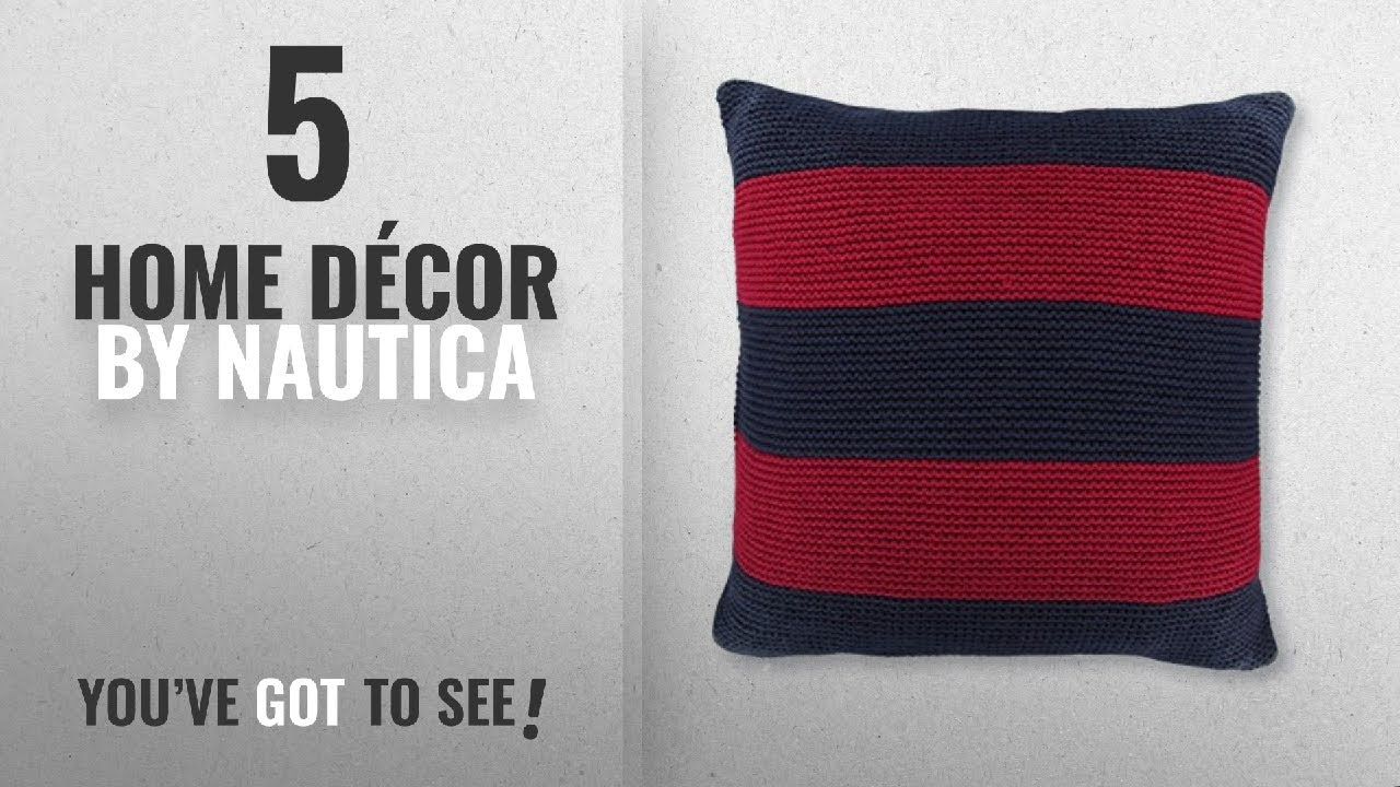 Top 10 Home Décor By Nautica Winter 2018 Crew Striped Knit Decorative Pillow 18