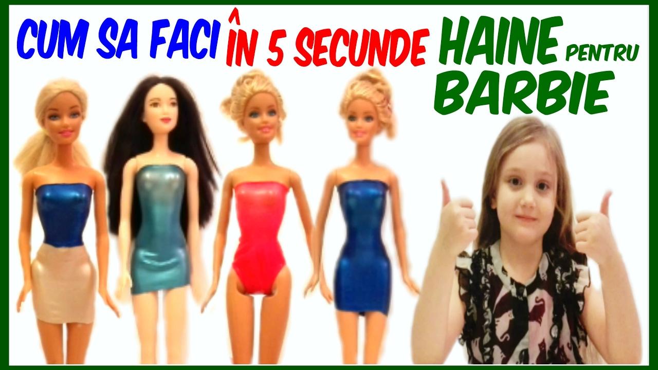 Cum sa faci HAINE pentru BARBIE in 5 SECUNDE Tutorial de la BettyL Club