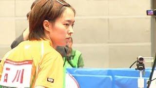 石川佳純 × 阿部恵 (決勝第4試合) 東京国体卓球2013-1003