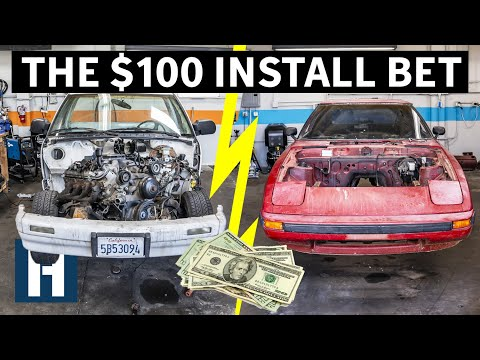 Build & Battle: Who's Engine Will Go in First?? Rotary vs V8 EP.3