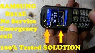 How To Repair Samsung B313E Network Problem / Samsung MOBILE No SERVECE & EMERGENCY CALL SOLUTION