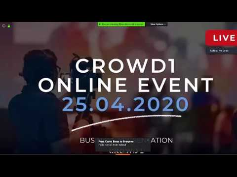 Crowd1 Countdown To Online Event 25th April 2020 (Don't Miss Out)