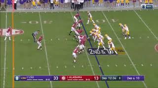 Ja'Marr Chase (WR #1) vs Alabama (2019)