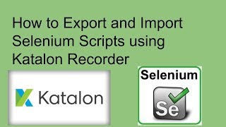 How to Export and Import Selenium Scripts