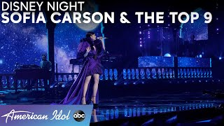 """Sofia Carson Performs """"A Whole New World"""" With Top 9! - American Idol 2021"""