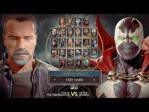 Mortal Kombat 11 Spawn Vs Terminator T-800 Gameplay Very Hard Difficulty MK11
