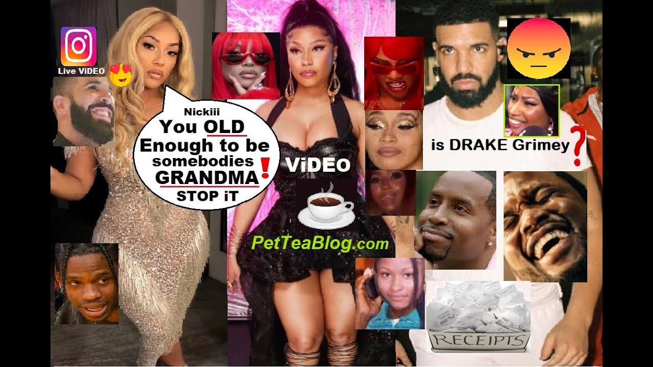 Drake Does Nicki Minaj Dirty, Steff London Calls her GRANDMA! Garbs Drag All 3 ????☕- ViDEO
