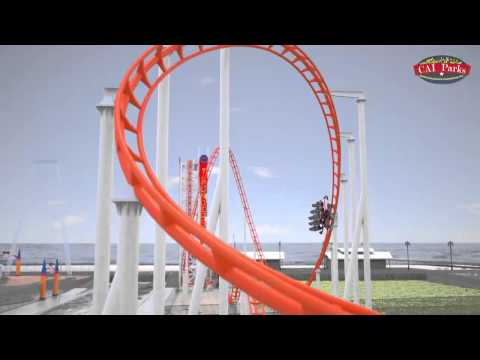 The thunderbolt at luna park in coney island youtube for Puerta 7 luna park