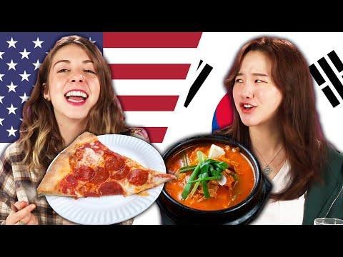 Americans & Koreans Swap School Lunches