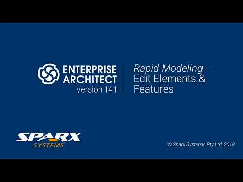 Rapid Modeling in Enterprise Architect - Edit Elements & Features