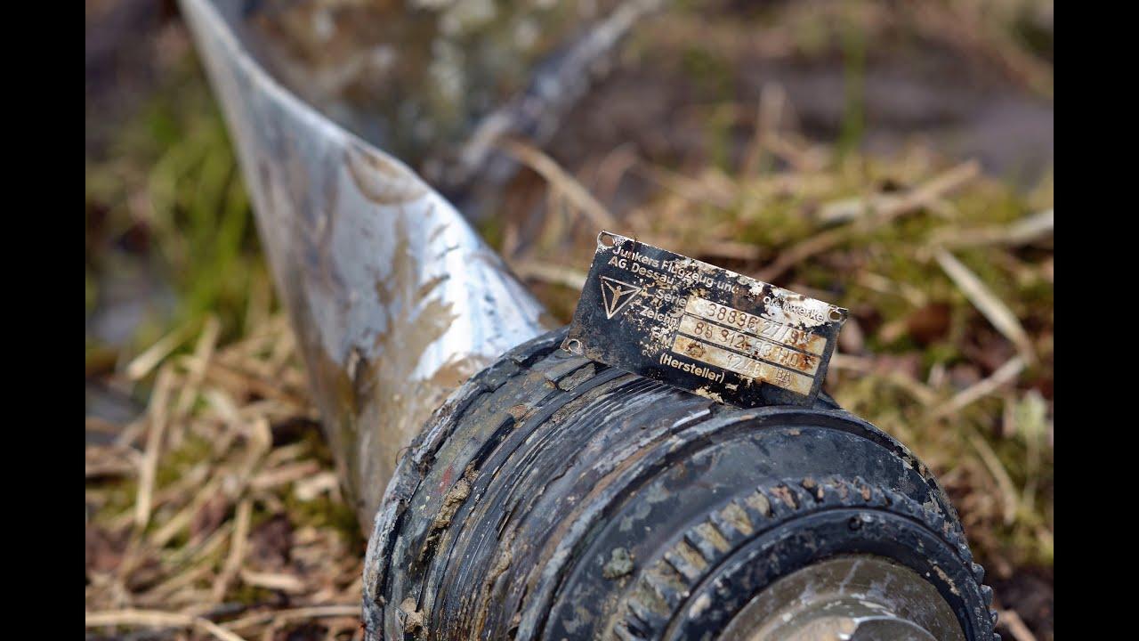 Работаем по Люфтваффе / Luftwaffe aircraft crash site