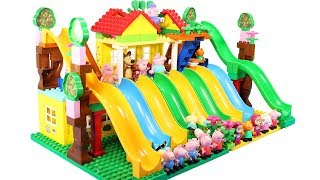 Peppa Pig Building Blocks House Lego Toys For Kids - Lego Duplo House Creations Toys #8