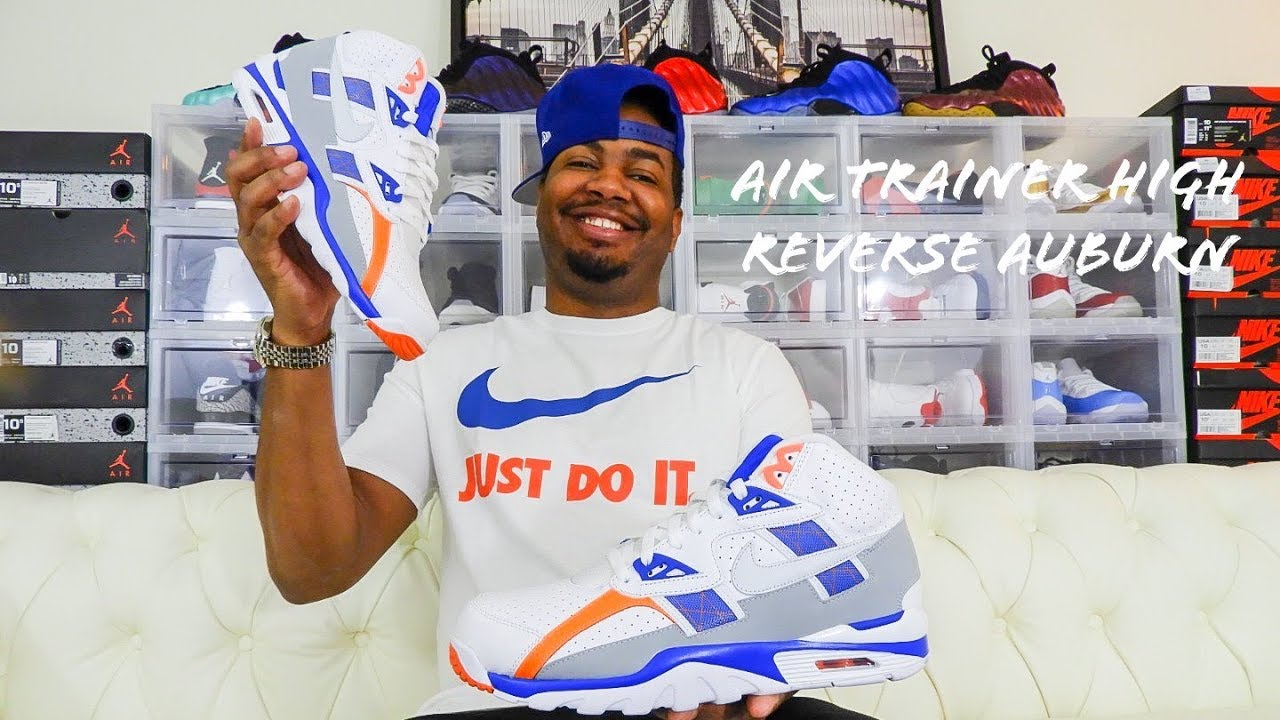 hot sale online 74999 65373 Nike Air Trainer SC High Reverse Auburn Review!!! Bo Jackson